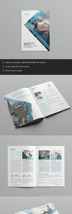 Minimal and Professional Annual Report Design Template InDesign ...