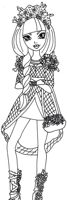 free ever after high coloring pages | Free Printable Ever After High Coloring Pages: Apple White ...
