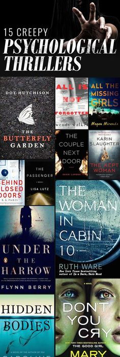 15 Creepy Books to Read with Your Book Club This Fall   Thrillers     15 Chilling Psychological Thrillers to Read This Halloween