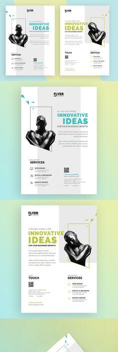 Creative / Corporate Flyer Template AI, PSD