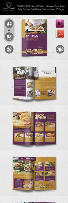 Food infographic   Catering Brochure Template   16 Pages     InDesign     Catering Brochure Template   20 Pages