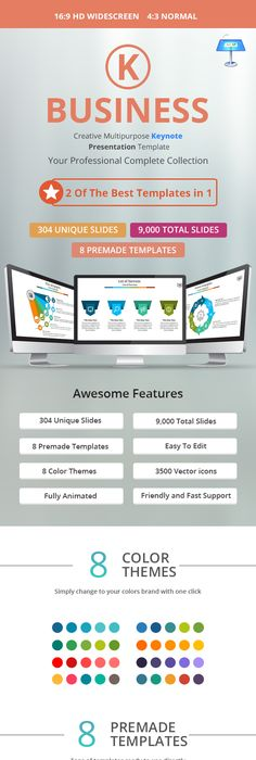 Color X Keynote Template Keynote Template And Mockup