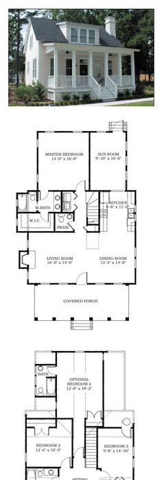 House Plan chp-38703 | Bedrooms, House and Small house plans