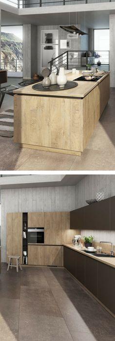 Rustikale Küchen Bilder  Ideen für rustikale Landhausküchen aus Holz - kücheninsel selbst gebaut