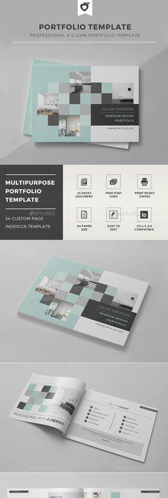 Modern Portfolio | Brochure template, Brochures and Template