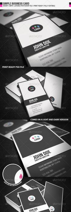 Business card ii print templates card printing and business cards simple business card reheart Images