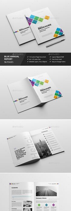 Brochure for Corporate Report - Template InDesign INDD - 20 Pages A4 ...
