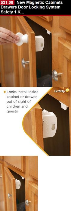 Baby Safety Locks And Latches: New Magnetic Cabinets Drawers Door Locking  System Safety 1 Key