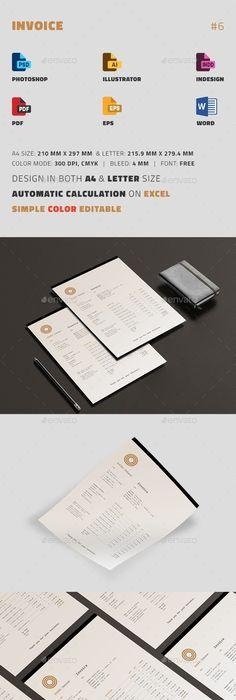 Colorful Corporate Invoice Brand identity design, Identity design