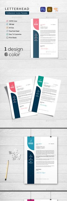 Letterhead Template Letterhead template, Stationery printing and