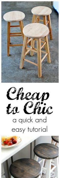 Exceptional Cheap To Chic Bar Stool Makeover With My NEW Spray Tent Good Ideas