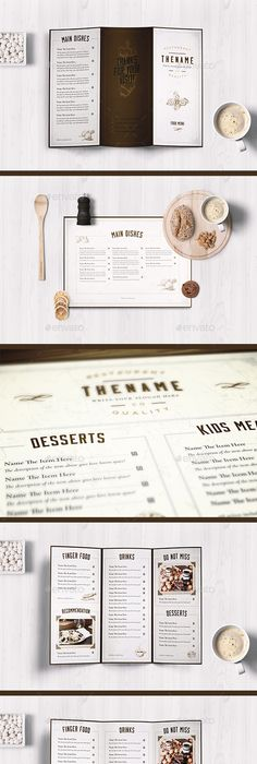 Cool Retro Bar Menu Graphic Design Typography Illustration