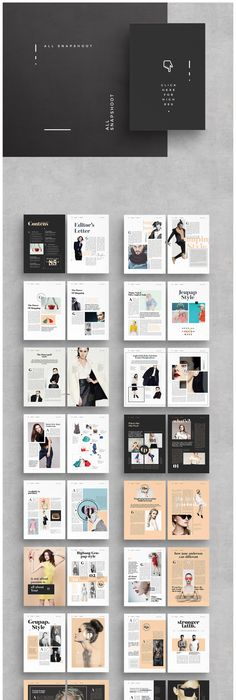 LOOKBOOK TEMPLATE BROCHURE FOLIO MODERN MAGAZINE HIPSTER BOHO PHOTOGRAPHY  FASHION PORTFOLIO PUBLICATIONS CLEAN SIMPLISTIC MINIMALIST INDESIGN