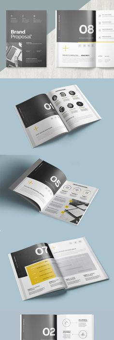 Minimal And Professional Proposal Design  Pages Template Indd