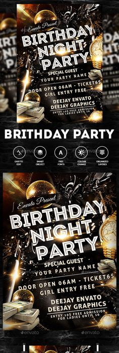 Celebration Event Party Flyer  Party Flyer Flyer Template And Mockup