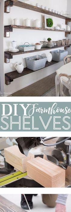 41 Incredible Farmhouse Decor Ideas ShelvingRustic ShelvingDiy