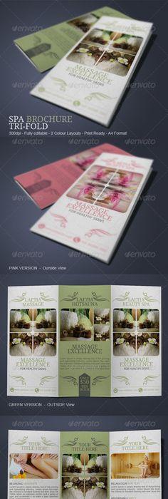 Nav Spa Brochure By Amanda Cohen Via Behance  Dtp Ideas