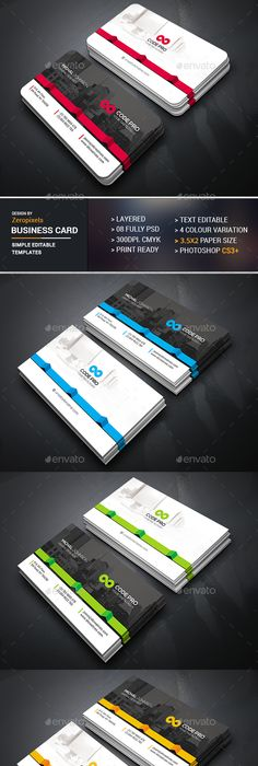 Modern clean business card 09 business cards card templates and modern clean business card 09 business cards card templates and business reheart Gallery