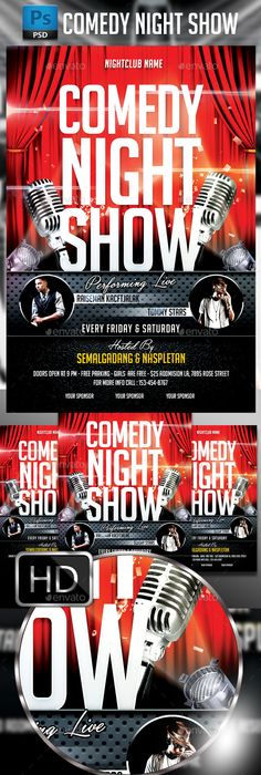 Comedy Night Flyer Template  Comedy Nights Flyer Template And Template