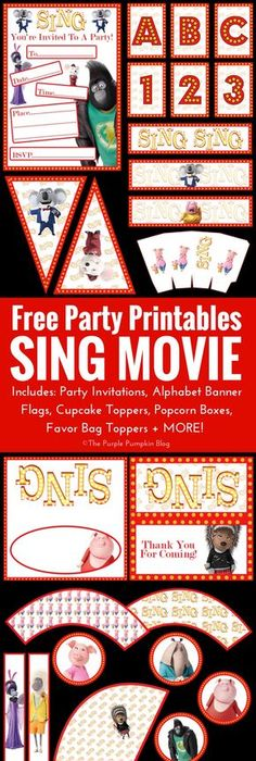 100 Free Printables to Download Sing movie Food game and Label paper