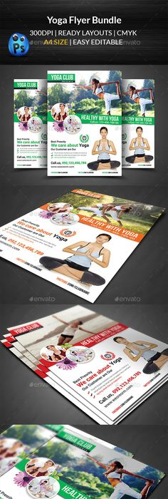 Yoga Class Flyer Template  Flyer Template Yoga And Template