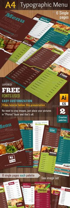 Menu Design Samples  Restaurant Menu Design More Profit With