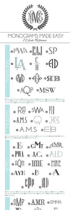 Monogram Initials Monogrammed-fonts- u2026 Pinteresu2026 - new letter format extension time