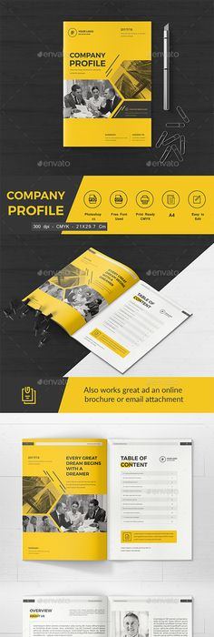 Company Profile Template Indesign Indd  Inspire For Work