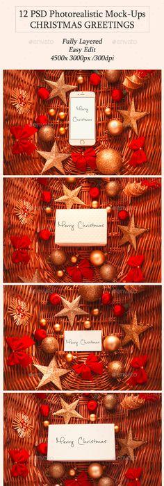 Mid century christmas card kit card kit mid century and 12 christmas greetings mock ups reheart Choice Image