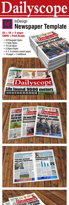 24 Pages Newspaper Template Newspaper Template And Print Templates