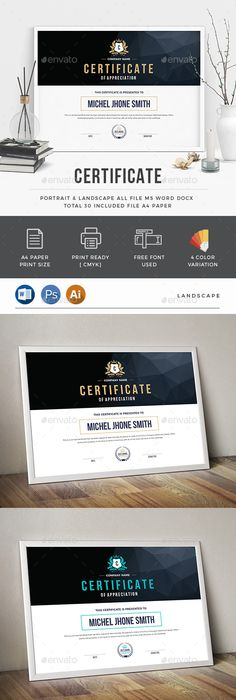 Modern ms word certificate template stationery templates certificate yadclub Gallery