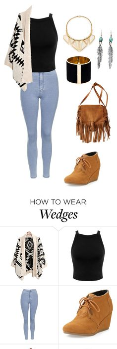 Toms wedge booties #94 by thereseatarwang on Polyvore featuring TOMS,  Topshop, Miss Selfridge