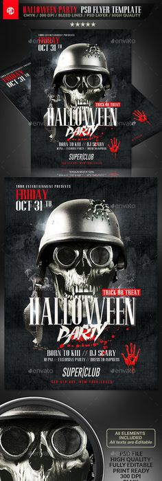 The Epic Twilight Halloween Party Flyer Template  Halloween Party