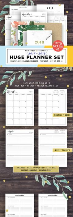 Daily Planner   Agenda  Instant Download  Insert