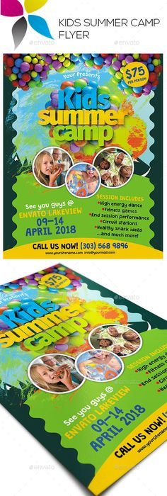 Kids Summer Camp Flyer  Camping Summer And Flyer Template