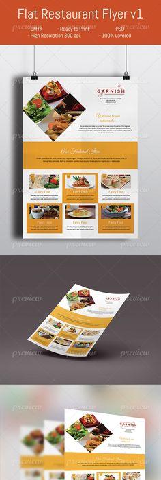 Restaurant Flyer  Design    Food Graphic Design