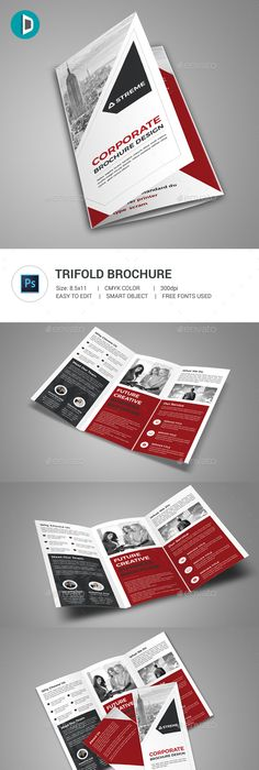 Photography Trifold Brochure Template Psd  Brochure Design