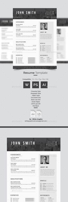 Cat  Resume Template Illustrator  Graphic Designer Resume