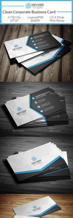Clean Professional Business Card V Business Cards Card - 35 x2 business card template