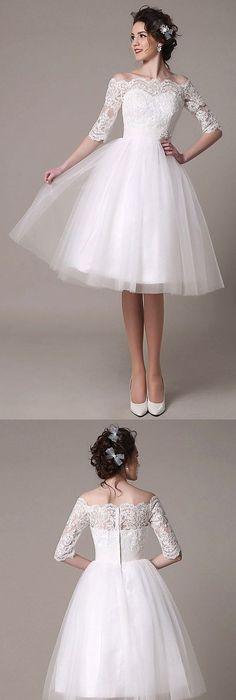 20 chic 1950s inspired wedding dresses | tea length, tea length