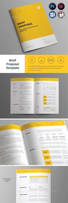 Rigel Proposal Template Brochure template, Proposals and Proposal - project proposal example