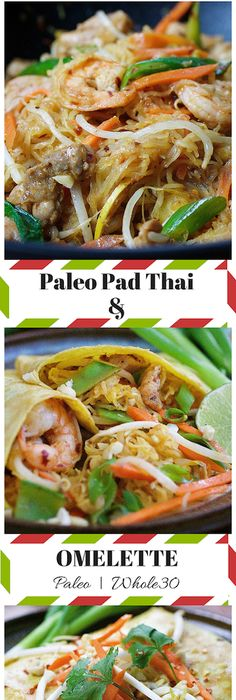Watch and learn how to make thai omelette easy and delicious thai paleo pad thai noodle omelette stuffed pad thai omelette with squash noodles and homemade pad forumfinder Gallery