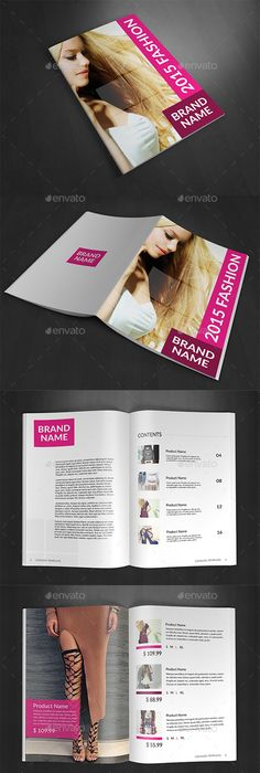 Fashion Product Catalog V  Brochures Brochure Template And Template