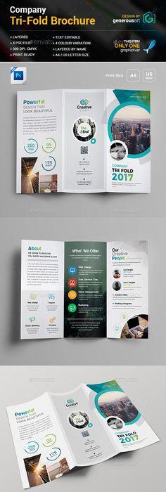 Print Shop TriFold Brochure Template  Tri Fold Brochure Template