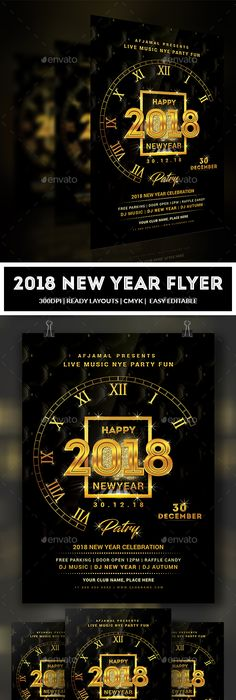 New Year Flyer Template  Flyer Template Template And Party Flyer