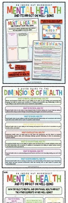 Mental Health & It's Impact on Well-Being Worksheet ...