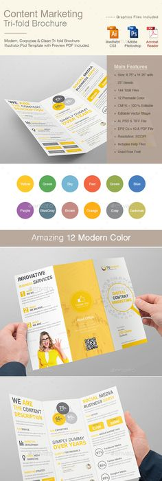 Summer Camp Kids BiFold Brochure  Brochures Psd Templates And
