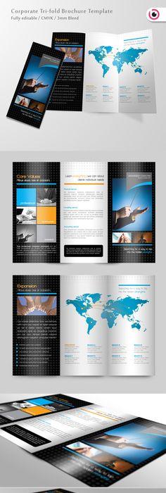 Trifold Brochure  Ai Illustrator Brochure Template And Brochures