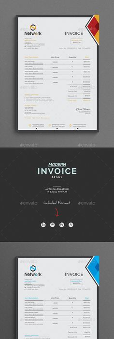 How To Make A Invoice On Word Invoice  Template Modern Graphic Design And Graphic Design Inspiration