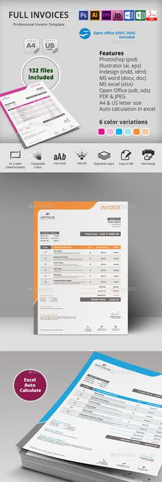 Invoice Excel Template, Proposal templates and Print templates